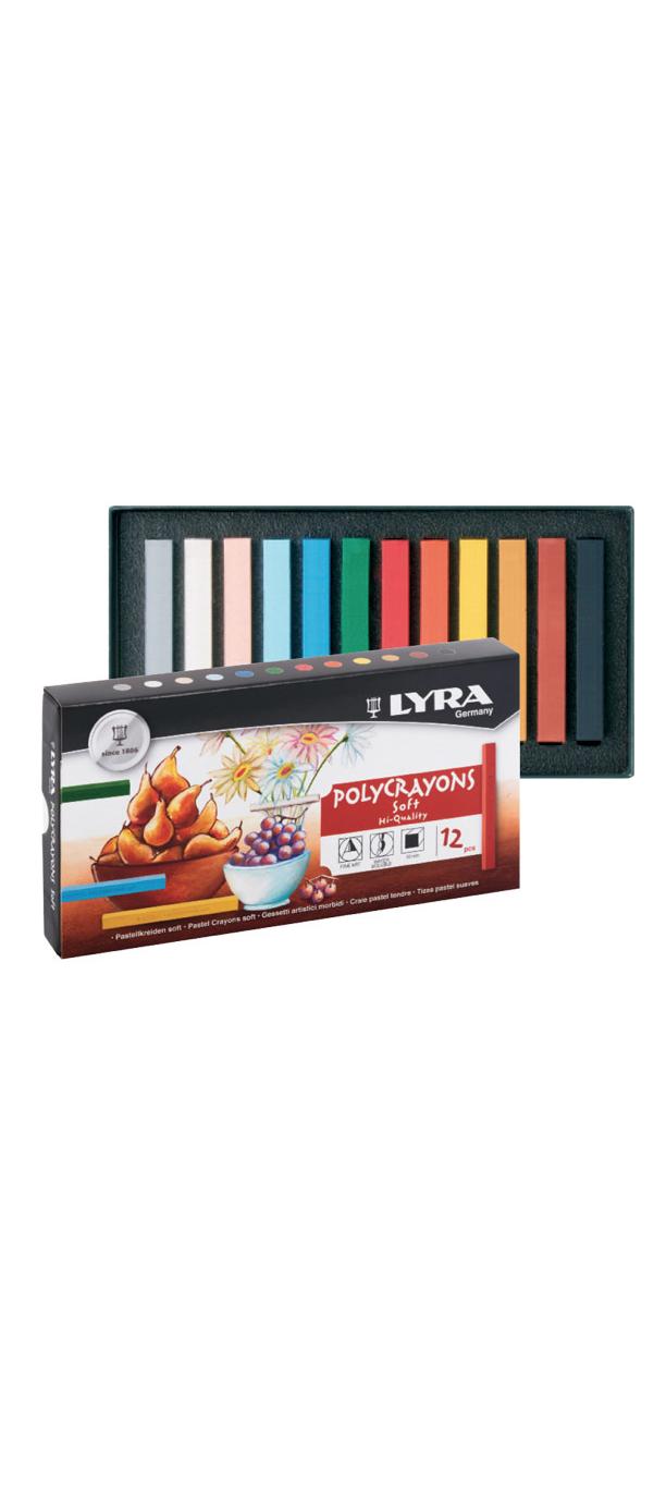 LYRA POLYCRAYONS SOFT PENCILS PASTELS CRAYON COULEUR ART ARTISTE DESSIN DRAW 4084900501061 COMASOUND KARTEL CSK ONLINE