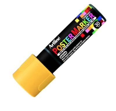 ARTLINE POSTER MARKER TEMPERA 30 YELLOW MARKER ART GRAFFITI SKETCH DRAW ARTISTE TAG SHOP PRO 4974052860676 COMASOUND KARTEL CSK ONLINE