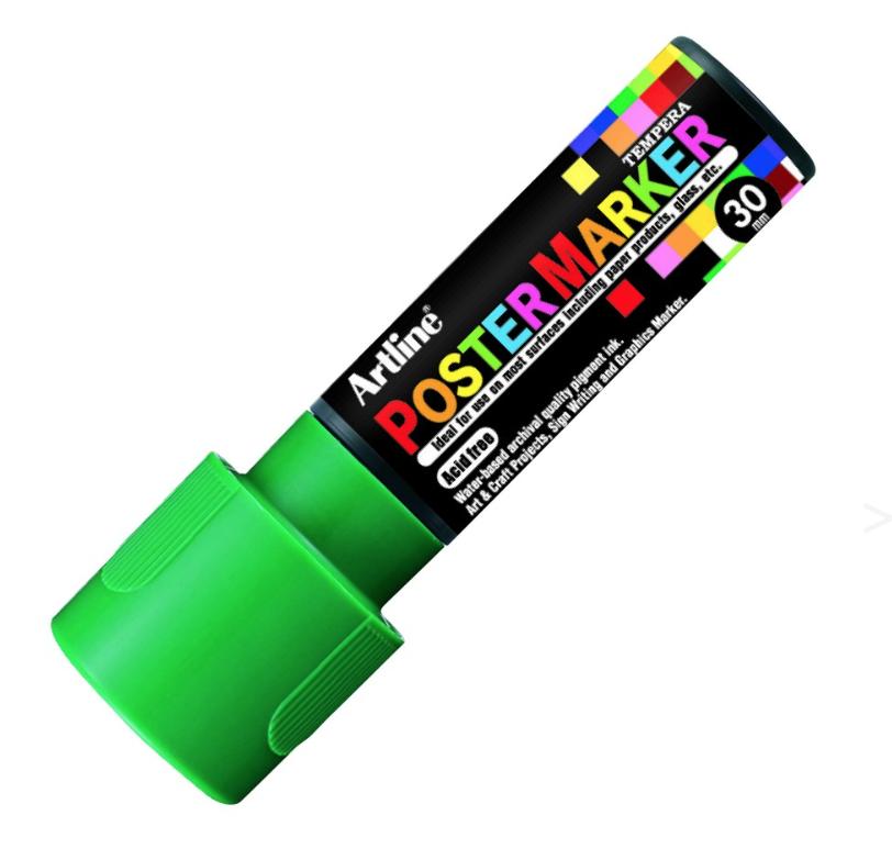ARTLINE POSTER MARKER TEMPERA 30 GREEN TORCHE MARKER ART GRAFFITI SKETCH DRAW ARTISTE TAG SHOP PRO 4974052852282 COMASOUND KARTEL CSK ONLINE