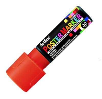 ARTLINE POSTER MARKER TEMPERA 30 FLUO ORANGE TORCHE MARKER ART GRAFFITI SKETCH DRAW ARTISTE TAG SHOP PRO 4974052852305 COMASOUND KARTEL CSK ONLINE