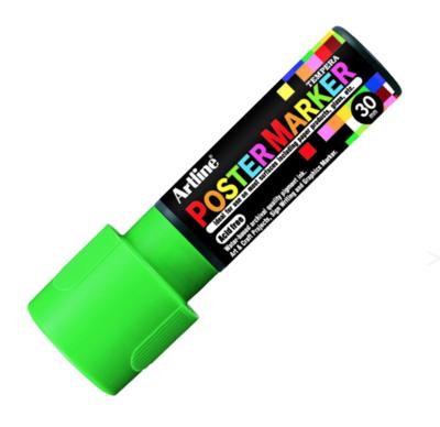 ARTLINE POSTER MARKER TEMPERA 30 FLUO GREEN TORCHE MARKER ART GRAFFITI SKETCH DRAW ARTISTE TAG SHOP PRO 4974052852329 COMASOUND KARTEL CSK ONLINE