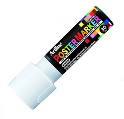 ARTLINE POSTER MARKER TEMPERA 30 WHITE TORCHE MARKER ART GRAFFITI SKETCH DRAW ARTISTE TAG SHOP PRO 4974052806285 COMASOUND KARTEL CSK ONLINE