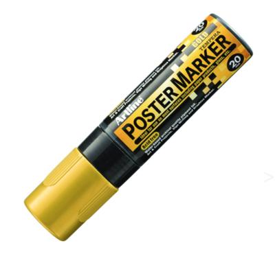 ARTLINE POSTER MARKER TEMPERA 20 GOLD MARKER ART GRAFFITI SKETCH DRAW ARTISTE TAG SHOP PRO 4974052860591 COMASOUND KARTEL CSK ONLINE