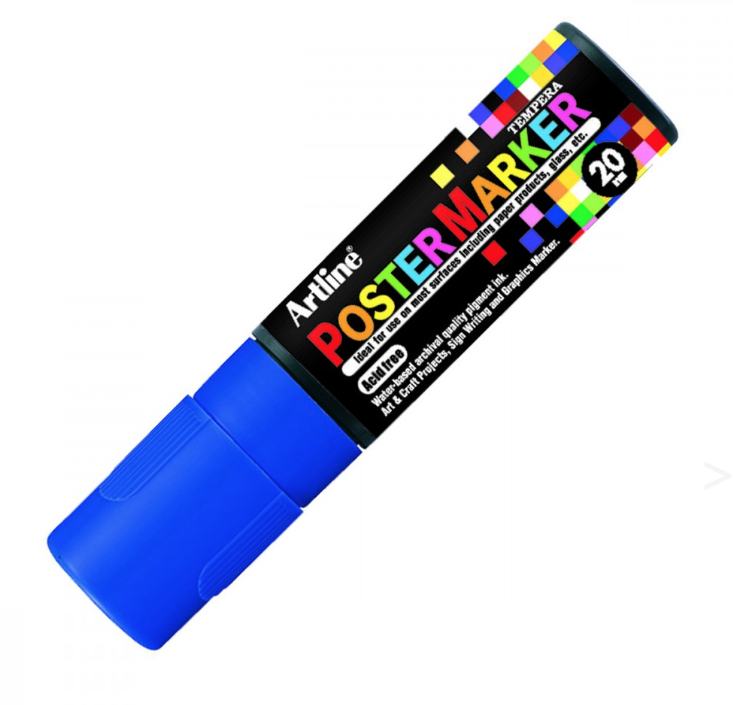 ARTLINE POSTER MARKER TEMPERA 20 BLUE MARKER ART GRAFFITI SKETCH DRAW ARTISTE TAG SHOP PRO 4974052852060 COMASOUND KARTEL CSK ONLINE