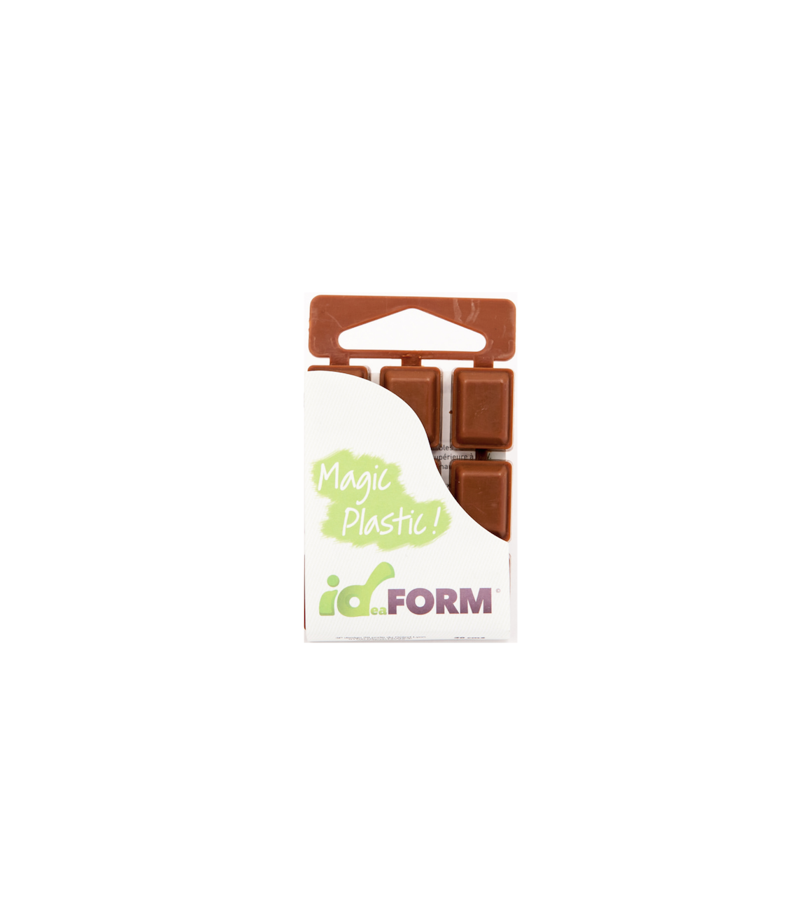 IDEAFORM ID-FORM TABLETTE PLASTIQUE THERMOFORMABLE MARRON 20 CM3 REPARER RENOVER MAGIC PLASTIC HOME DECORATION BRICOLAGE ART 3700820001153 COMASOUND KARTEL CSK ONLINE