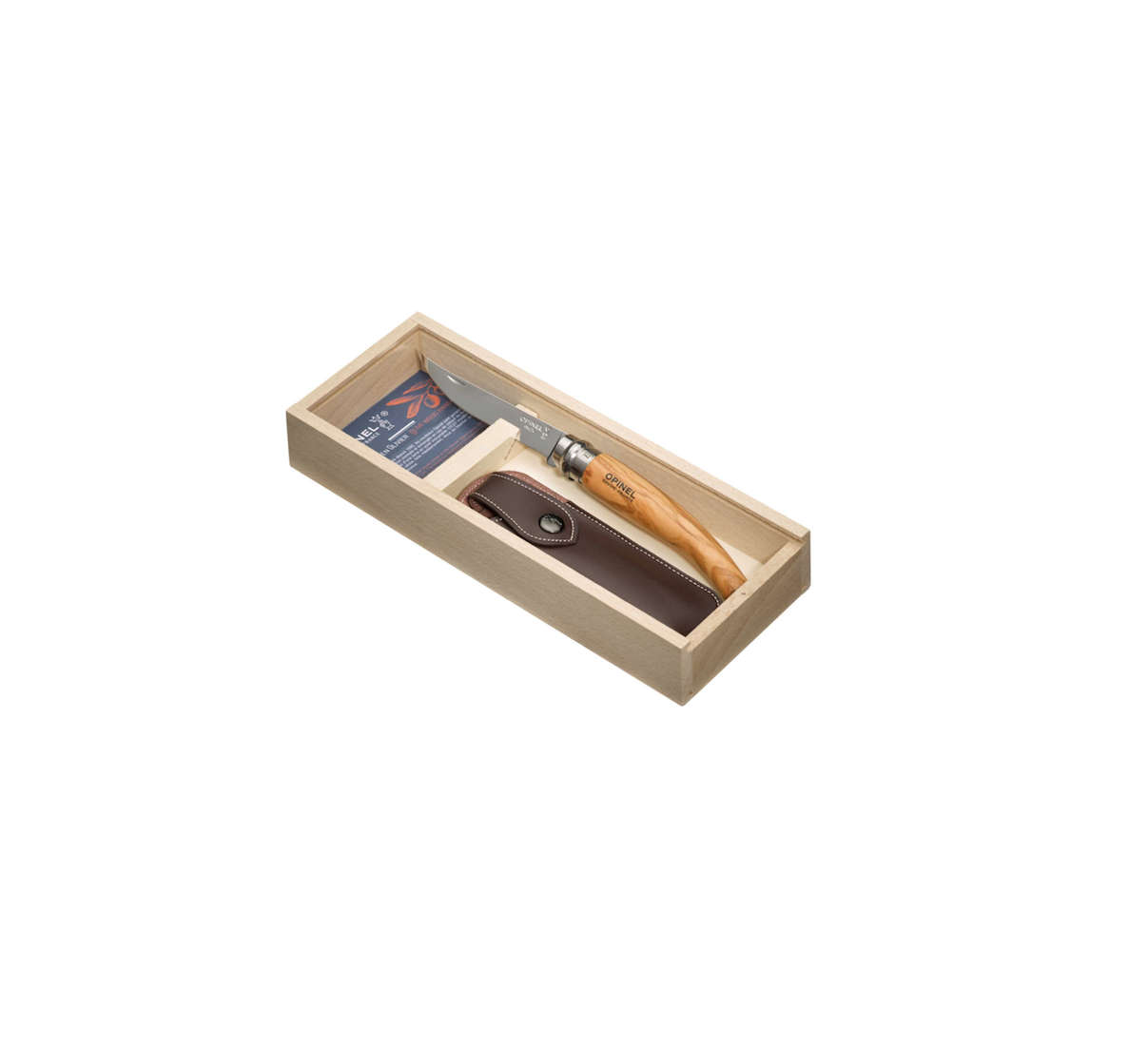 OPINEL N°8 COUTEAU PLUMIER MANCHE OLIVIER ETUI NOX HOOD COUPE RANDONNE CAMPING CHASSE PECHE DECOUPE CUISINE 3123840010040 HOME COOKING KITCHEN NATURE INOX HOOD COMASOUND KARTEL CSK ONLINE