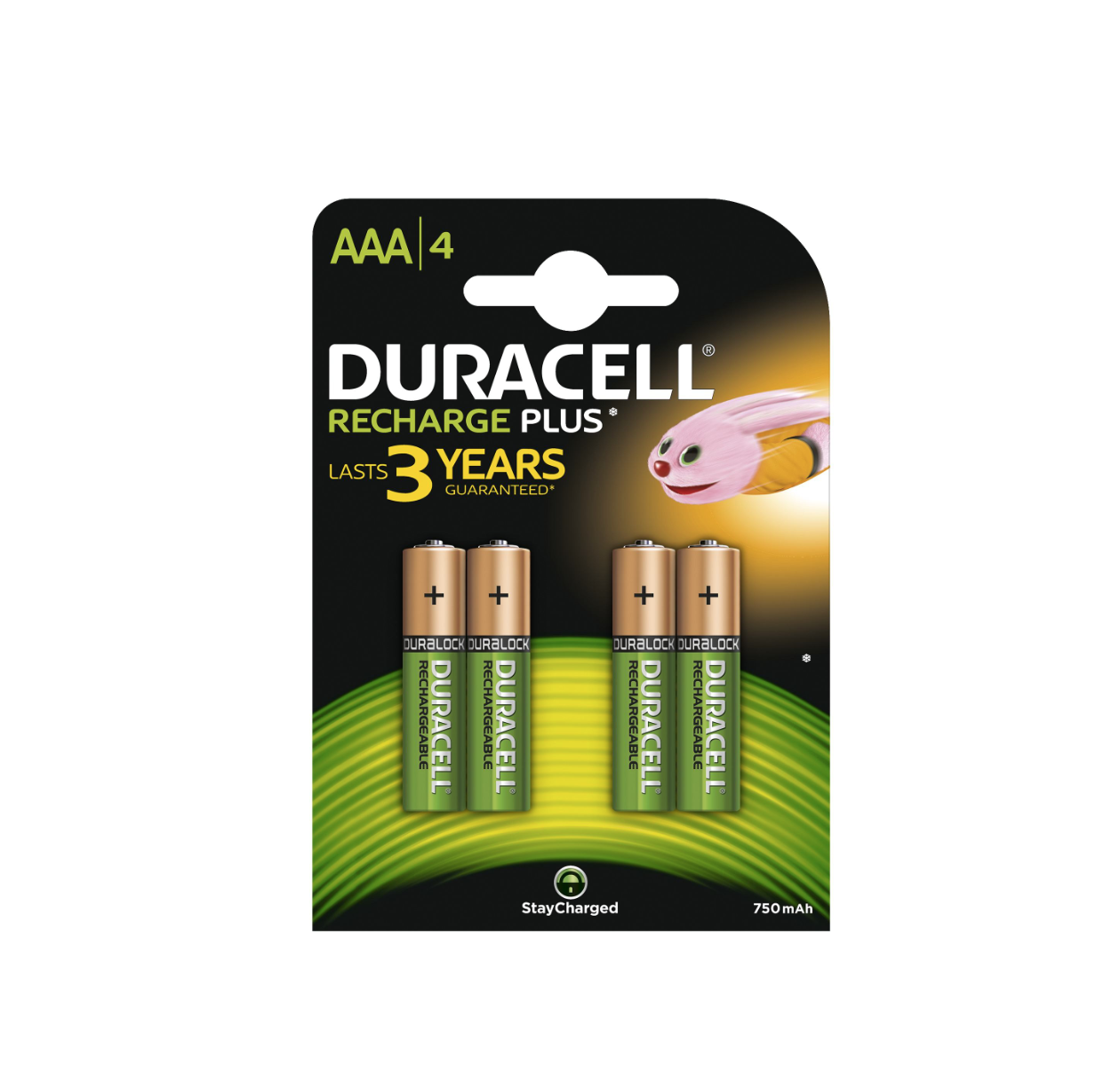 DURACELL RECHARGE PLUS AAA 4 PILES RECHARGEABLE NIMH 750mAh/1,2V BATTERIE 5000394090231 COMASOUND KARTEL CSK ONLINE