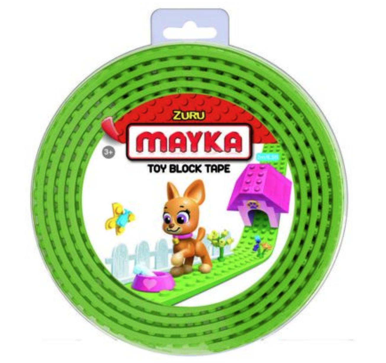 ZURU MAYKA BRIQUE ROULEAU TOY BLOCK TAPE JEU JOUET COMPATIBLE LEGO CONSTRUCTION ENFANT 3700514313647 COMASOUND KARTEL CSK ONLINE CLEAR GREEN