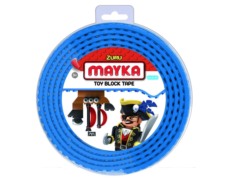 ZURU MAYKA BRIQUE ROULEAU TOY BLOCK TAPE JEU JOUET COMPATIBLE LEGO CONSTRUCTION ENFANT 3700514313647 COMASOUND KARTEL CSK ONLINE BLUE