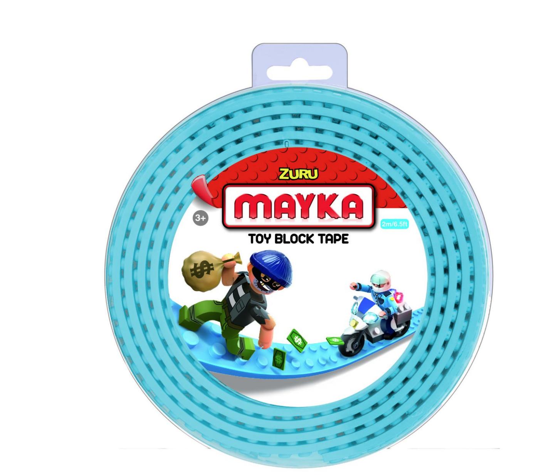 ZURU MAYKA BRIQUE ROULEAU TOY BLOCK TAPE JEU JOUET COMPATIBLE LEGO CONSTRUCTION ENFANT 3700514313647 COMASOUND KARTEL CSK ONLINE CLEAR BLUE