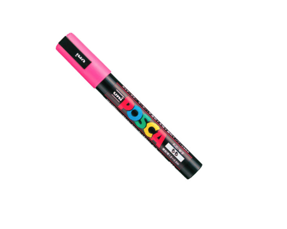 UNI POSCA PC-5M PINK MARKER ART GRAFFITI 4902778916179 SKETCH DRAW ARTISTE TAG SHOP PRO COMASOUND KARTEL CSK ONLINE SHOP DECORATION
