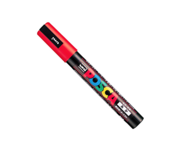 UNI POSCA PC-5M RED MARKER ART GRAFFITI 4902778916131 SKETCH DRAW ARTISTE TAG SHOP PRO COMASOUND KARTEL CSK ONLINE SHOP DECORATION