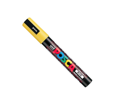 UNI POSCA PC-5M YELLOW MARKER ART GRAFFITI 4902778916162 SKETCH DRAW ARTISTE TAG SHOP PRO COMASOUND KARTEL CSK ONLINE SHOP DECORATION
