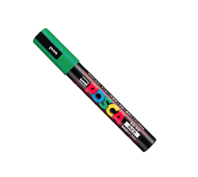 UNI POSCA PC-5M GREEN MARKER ART GRAFFITI 4902778916148 SKETCH DRAW ARTISTE TAG SHOP PRO COMASOUND KARTEL CSK ONLINE SHOP DECORATION