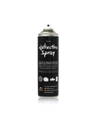 DRIVECASE REFLECTIVE SPRAY PEINTURE CASQUE RETRO-REFLECHISSANTE 500 ML AEROSOL CANS  PAINT COMASOUND KARTEL SECURITE MOTO AUTO QUAD VELO CARTABLE PROTECTION CAR MOTORBIKE 3701120600015 CSK ONLINE