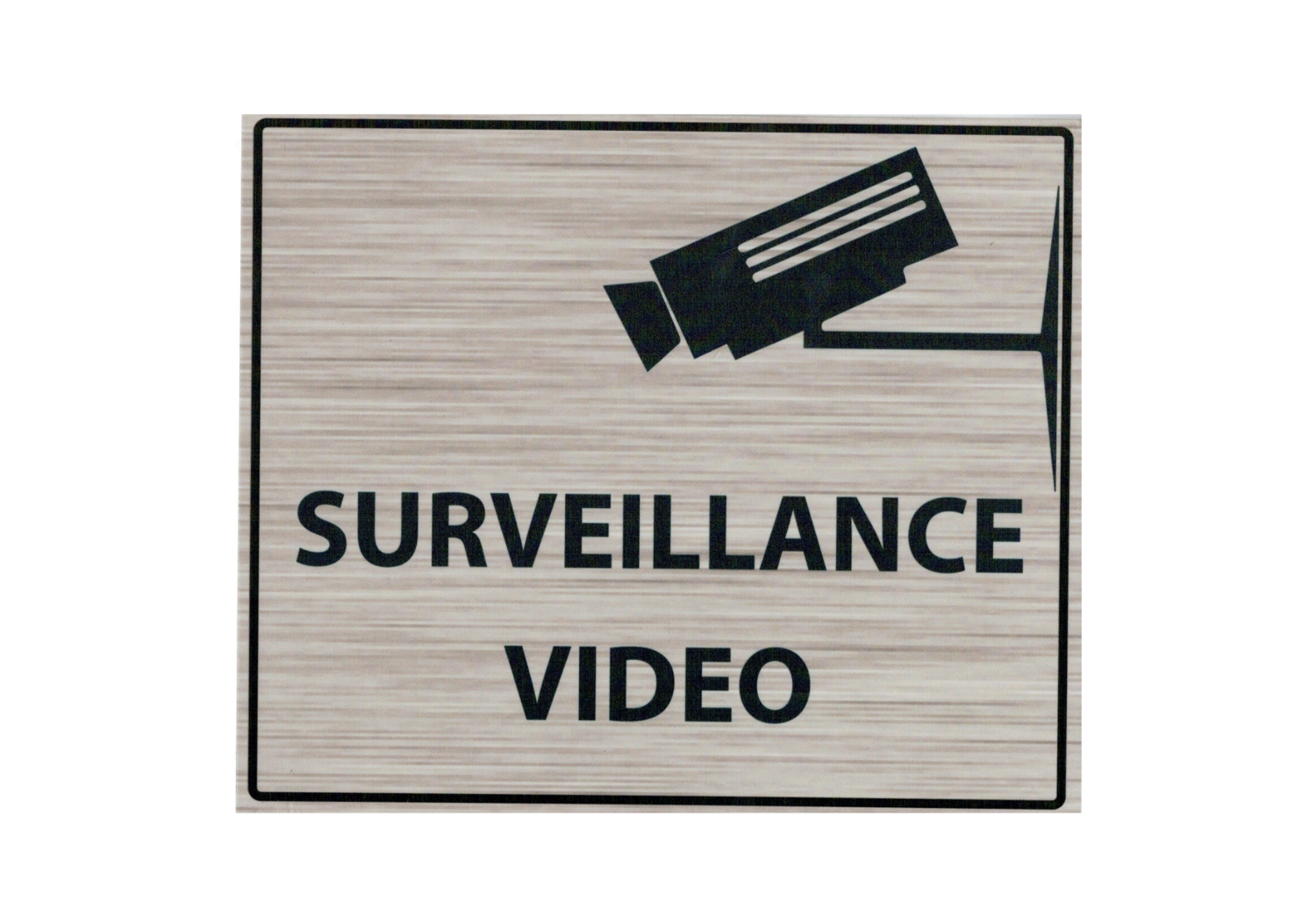 KISIKOL SURVEILLANCE VIDEO PLAQUE PVC SECURITE SIGNALITIQUE DECORATION DECOR MAISON SHOP BOUTIQUE BAR COLLECTION  3708569126540 COMASOUND KARTEL CSK ONLINE