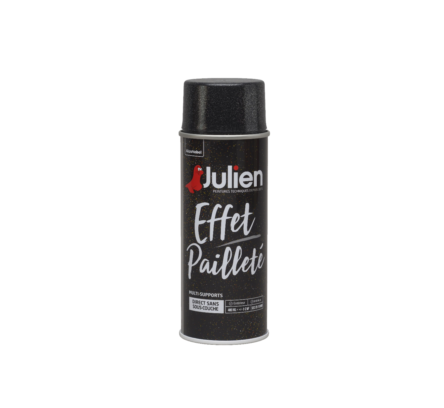 JULIEN PEINTURE EFFET PAILLETTE ARGENT MULTI-SUPPORTS 3031520200776 PRO 400 ML SPRAY PAINT DECORATION ART BRICOLAGE RENOVATION RENOVER BOMBE COMASOUND KARTEL CSK ONLINE