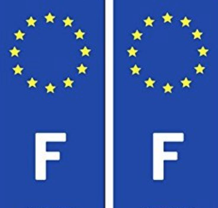 IMDIFA STICKER AUTOCOLLANT FRANCE EUROPE FONCE IMMATRICULATION  CONDUCTEUR AUTO CAR TRUCK VAN VOITURE VEHICULE 3284090003388 ADHESIF COMASOUND KARTEL CSK ONLINE