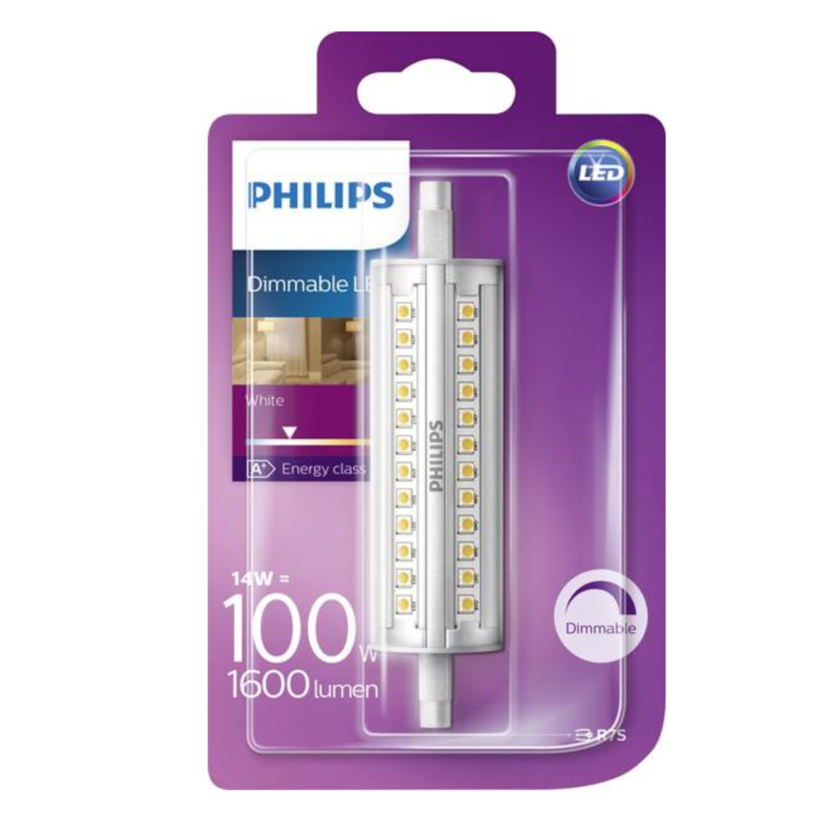 PHILIPS DIMMABLE LED WHITE 100 W 1600 LUMENS AMPOULE R7S R 7S LUMINAIRE MAISON  8718696578735 COMASOUND KARTEL CSK ONLINE