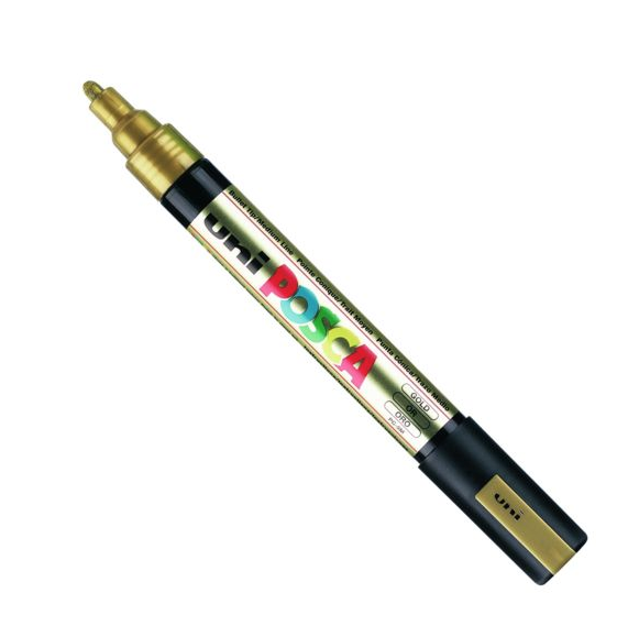 UNI POSCA PC-5M GOLD MARKER ART GRAFFITI 4902778916261 SKETCH DRAW ARTISTE TAG SHOP PRO COMASOUND KARTEL CSK ONLINE SHOP DECORATION