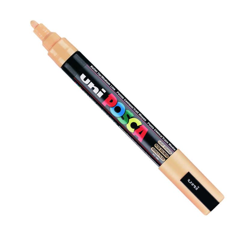 UNI POSCA PC-5M LIGHT ORANGE MARKER ART GRAFFITI 4902778916230 SKETCH DRAW ARTISTE TAG SHOP PRO COMASOUND KARTEL CSK ONLINE SHOP DECORATION