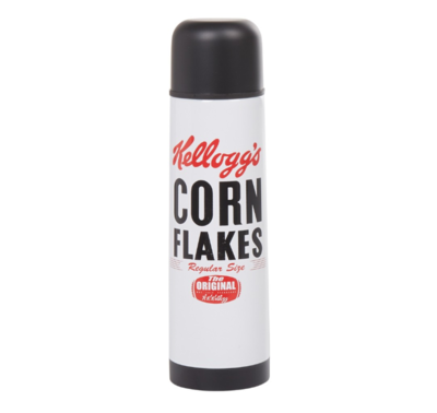KELLOGG'S THERMO BOUTEILLE TRANSPORT ISOLEE CAMPING CHASSE CAMPING VINTAGE CHANTIER SPORT MONTAGNE ALPINISME MONTAGNE INOXIDABLE BOTTLE 3561864305832 BOISSON COMASOUND KARTEL CSK ONLINE ( THERMOS )