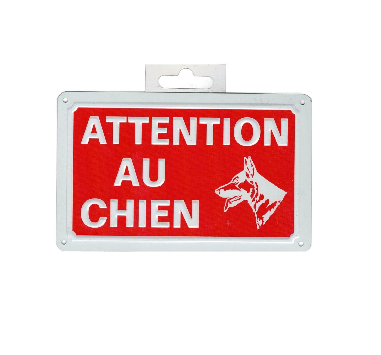 ATTENTION AU CHIEN PLAQUE METTALIQUE SECURITE SIGNALITIQUE DECORATION DECOR MAISON SHOP BOUTIQUE BAR COLLECTION  3526780937109 COMASOUND KARTEL CSK ONLINE