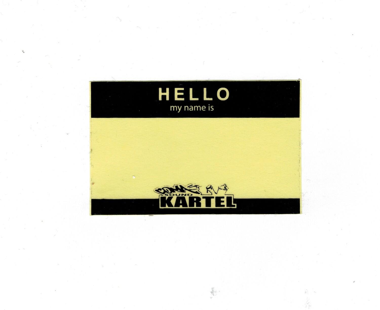 "LOT DE 20 STICKER "" HELLO MY NAME IS "" 5 X 10 CM TRANSPARENT AUTOCOLLANT ADHESIF ART GRAFFITI SKETCH DRAW ARTISTE TAG SHOP PRO 4974052838644 COMASOUND KARTEL CSK ONLINE SHACHIHATA"