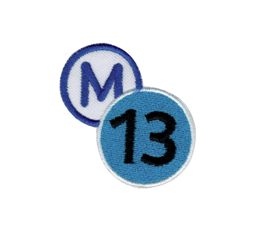 "M 13 LIGNE "" METRO , SUBWAY "" BLASON BRODERIE VETEMENT WEAR CLOTHING CUSTOM APPAREL HABIT REPARER DECORATION HIP HOP ART GRAFFITI ARTISTE TAG SHOP PRO COMASOUND KARTEL CSK ONLINE"