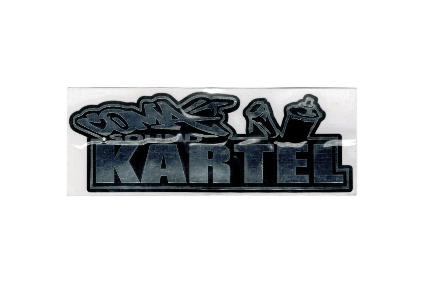 STICKER SILVER BLACK 4 X 12 CM AUTOCOLLANT ADHESIF CUSTOM DECORATION AUTO MOTO SCOOTER HOME QUAG SKETE ART GRAFFITI SKETCH DRAW ARTISTE TAG SHOP PRO 4974052838644 COMASOUND KARTEL CSK ONLINE