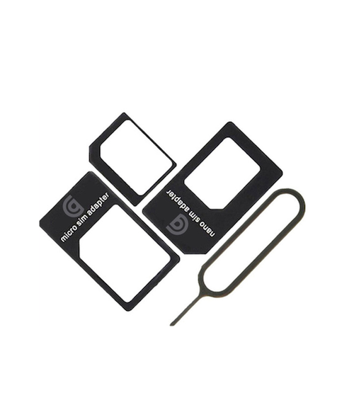 GRIFFIN NANO SIM ADAPTATER ADAPTATEUR CARTE CARD X 3 PCS BLACK  TELEPHONE PHONE LOT SET PACK PRO 6926365984684 COMASOUND KARTEL CSK ONLINE