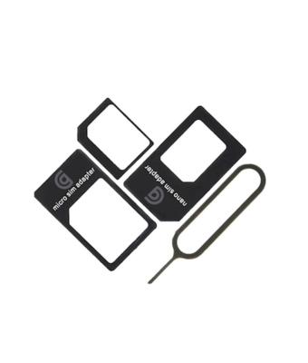 GRIFFIN NANO SIM ADAPTATER ADAPTATEUR CARTE CARD X 3 PCS BLACK  TELEPHONE PHONE LOT SET PACK PRO 6926365984684 COMASOUND KARTEL CSK ONLINE
