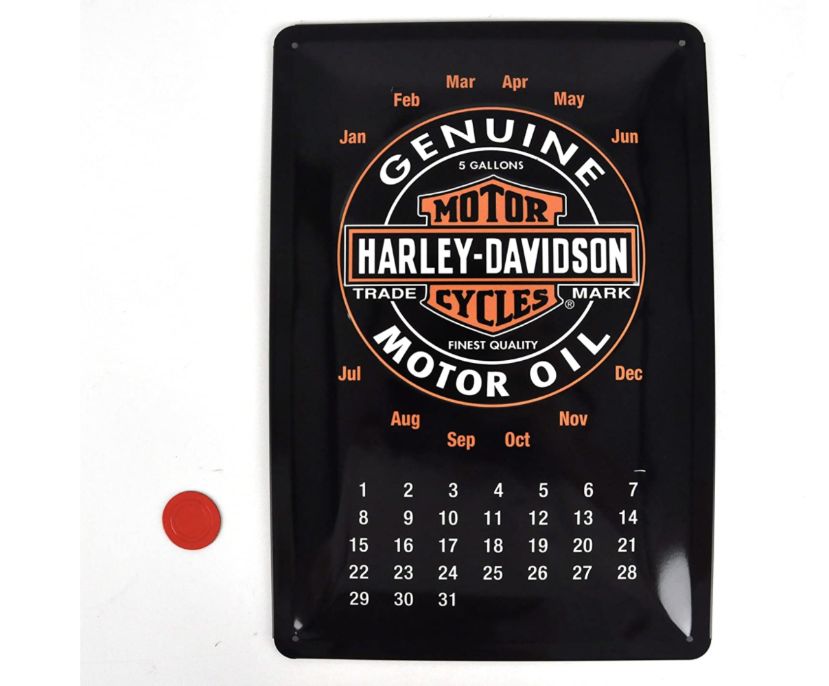 NOSTALGIC ART HARLEY DAVIDSON PLAQUE METTALIQUE CALENDRIER VINTAGE SECURITE SIGNALITIQUE DECORATION DECOR MAISON SHOP BOUTIQUE BAR COLLECTION  4036113221359 COMASOUND KARTEL CSK ONLINE