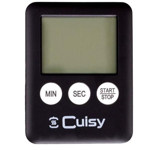 CUISY MINUTEUR ELECTRONIQUE AIMANTE CUISSON CUISINE ROASTING KITCHEN PRO DESSERT 0634154902028 COMASOUND KARTEL CSK ONLINE NOIR