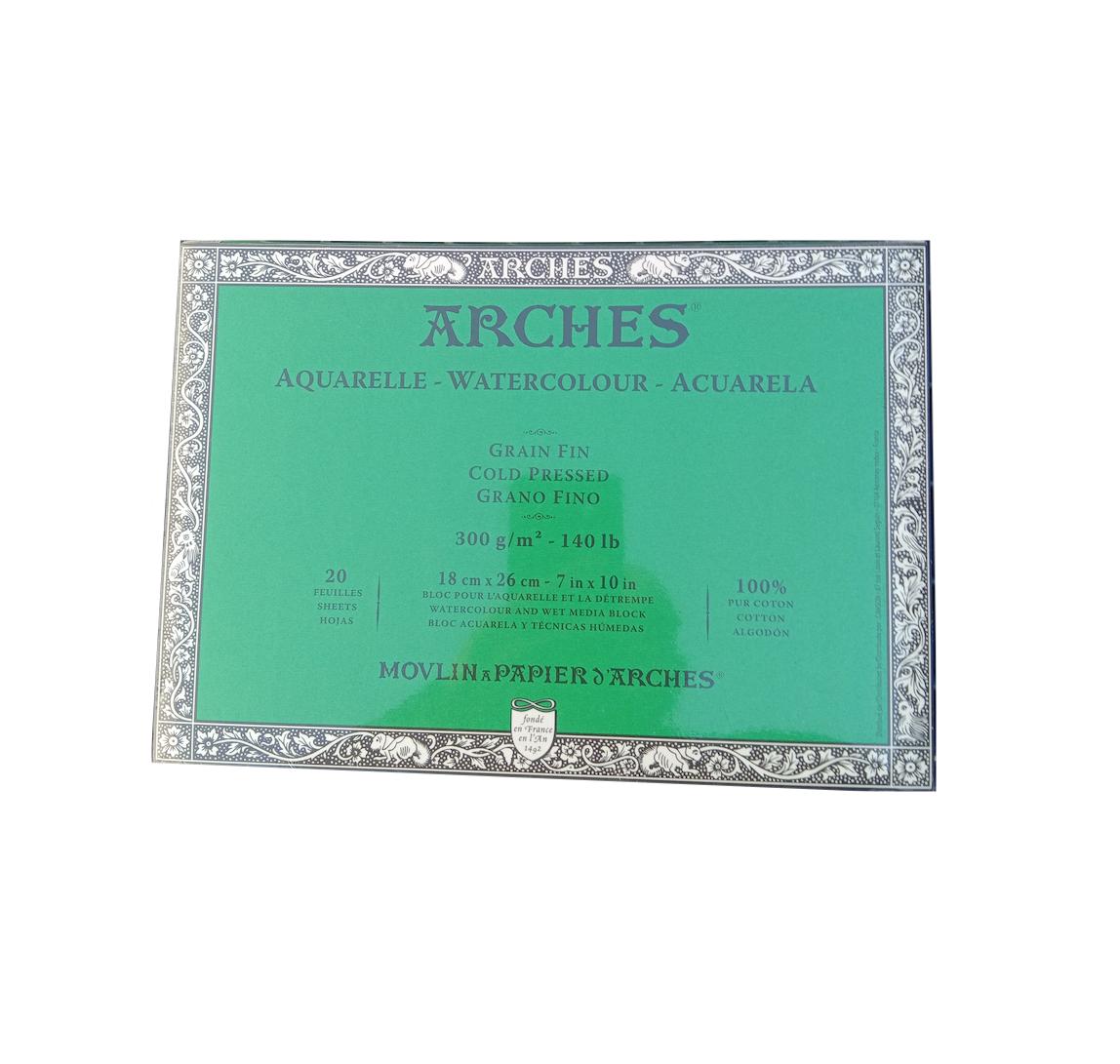 CANSON ARCHES PAPIER AQUARELLE GRAIN FIN 18 X 26 CM PEINTURE CRAYON COULEUR ART ARTISTE DESSIN DRAW 3011480511211 COMASOUND KARTEL CSK ONLINE