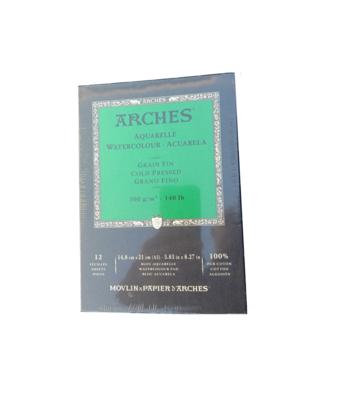 CANSON ARCHES PAPIER AQUARELLE GRAIN FIN 14.8 X 21 CM PEINTURE CRAYON COULEUR ART ARTISTE DESSIN DRAW 3700417950901 COMASOUND KARTEL CSK ONLINE