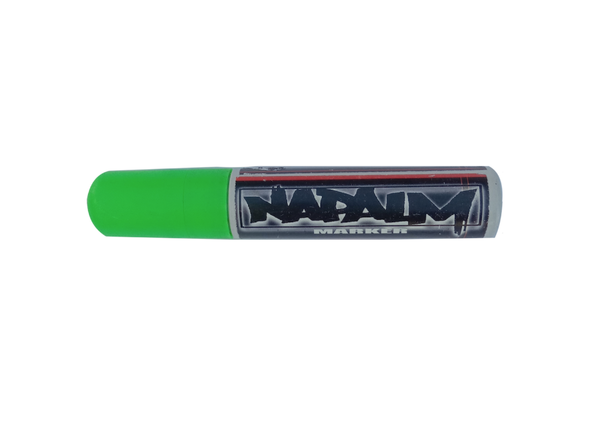NAPALM MARQUEUR 15 MM  MARKER SHOP MENU VITRINE CHALK BODY PAINT ART GRAFFITI SKETCH DRAW ARTISTE TAG SHOP PRO COMASOUND KARTEL CSK ONLINE GREEN