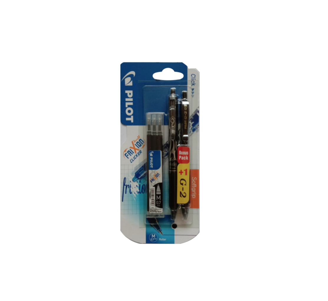 PILOT FRIXION STYLO EFFACABLE ERASE  PEN 3131910528029 LOT + G2 SET PACK  M 0.7  SCHOOL RECHARGE STYLO PEN OFFICE SHOP WRITING LOT SET PACK COMASOUND KARTEL CSK ONLINE
