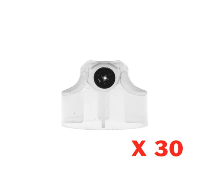 SUPER SKINNY BANANA TRANSPARENT CLEAR CAP  X 30 AEROSOL SPRAY CANS PAINT GRAFFITI ART DIFFUSEUR PRO PACK SET LOT COMASOUND KARTEL CSK ONLINE