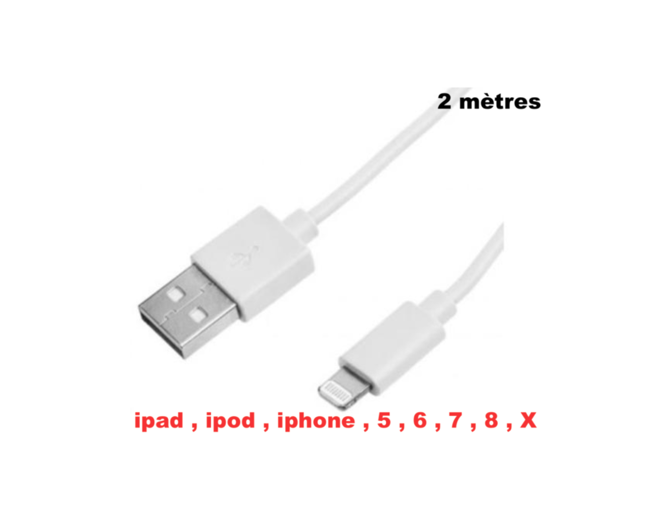 FOR APPLE LIGHTHING CABLE CHARGE 2M SYNC IPOD IPAD IPHONE 1M SECURITE 5053834241625 CAR TRUCK QUAD VEHICULE VAN AUTO VOITURE COMASOUND KARTEL CSK ONLINE