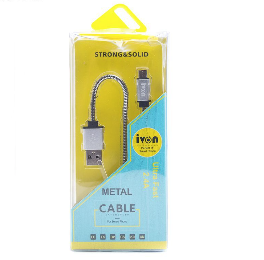 IVON APPLE LIGHTHING METAL CABLE 1M CHARGE  SYNC IPOD IPAD IPHONE 1M SECURITE 6999856323705 CAR TRUCK QUAD VEHICULE VAN AUTO VOITURE COMASOUND KARTEL CSK ONLINE