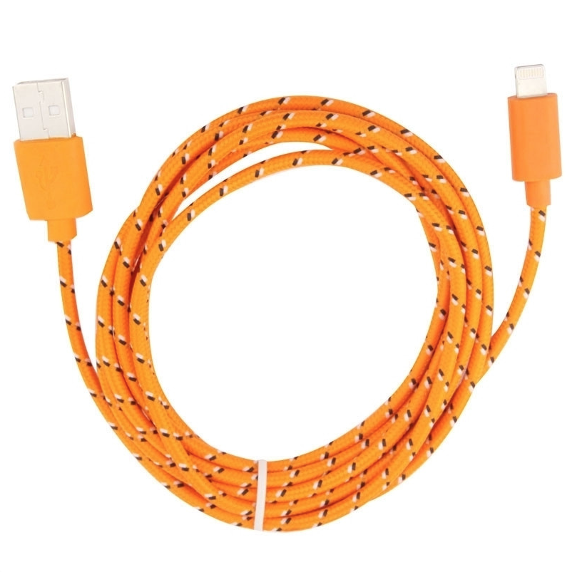 ORANGE FOR APPLE LIGHTHING CABLE 1M CHARGE SYNC IPOD IPAD IPHONE 1M SECURITE 0634154901311 CAR TRUCK QUAD VEHICULE VAN AUTO VOITURE COMASOUND KARTEL CSK ONLINE