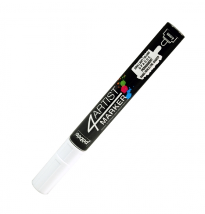 PEBEO 4ARTIST MARKER WHITE 4mm OIL BASED CANVAS TOILE COULEUR ART ARTISTE DESSIN DRAW 3167865801252 COMASOUND KARTEL CSK ONLINE
