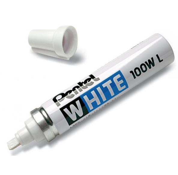 PENTEL WHITE 100W L BLANC PERMANENT MARKER  BLACK INDELEBILE  MARQUAGE 3474370114235 ART GRAFFITI TAG DRAW PRO SHOP STORE MARQUEUR ROTULADOR COMASOUND KARTEL CSK ONLINE