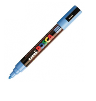 UNI POSCA PC-5M SKY BLUE MARKER ART GRAFFITI 4902778036877 SKETCH DRAW ARTISTE TAG SHOP PRO COMASOUND KARTEL CSK ONLINE SHOP DECORATION