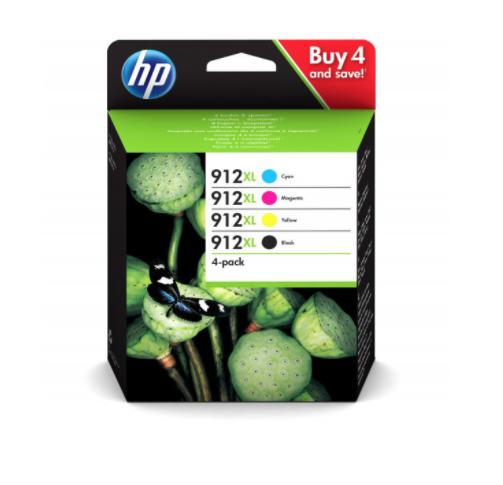 HP CARTOUCHE D'ENCRE ORIGINALE 912 XL PACK SET LOT CYAN MAGENTA YELLOW BLACK NEUF 0193424057139 COMASOUND KARTEL CSK ONLINE