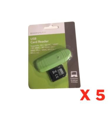 SIGNALEX USB CARD READER ADAPTATEUR SD CARTE LOT SET PACK PHOTO PC IMAC MACBOOK ORDINATEUR VIDEO CAMERA GO PRO LECTEUR 5054110287788 COMASOUND KARTEL CSK ONLINE