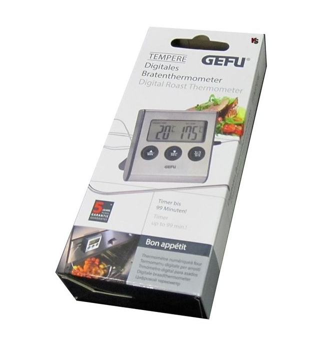 GEFU THERMOMETRE DIGITALE SONDE CUISSON FOUR CUISINE BAR  4006664218405 HOME COOKING KITCHEN NATURE INOX HOOD COMASOUND KARTEL CSK ONLINE
