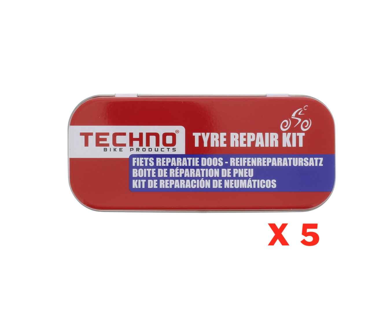 BOITE DE REPARATION DE PNEU TECHNO BIKE PRODUCTS VELO MOTO SCOOTER TYRE REPAIR KIT SET PACK 8710259011260 COMASOUND KARTEL CSK ONLINE