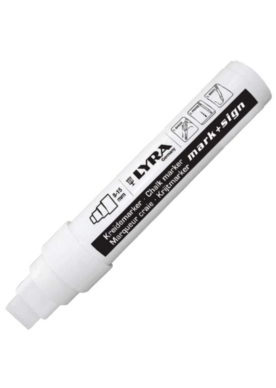 LYRA MARK + SIGN CHALK MARKER WHITE BLANC 15 MM MARQUEUR CANVAS ART GRAFFITI SKETCH DRAW ARTISTE TAG SHOP PRO 4084900407097 COMASOUND KARTEL CSK ONLINE